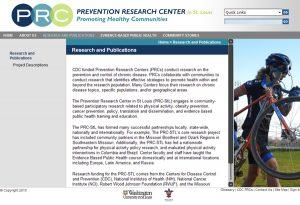 Prevention Research Center Interior Page